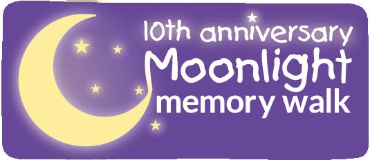 Moonlight Memory Walk 10 Anniversary Logo