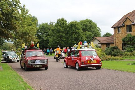 The Legendary Grand Mini Tour calls in at Children's Hospice South West's Little Bridge House in August 2018