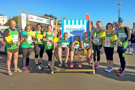 Runners at Britain's Ocean City Half Marathon