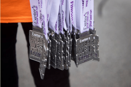 Great West Run medals