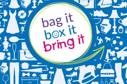 Bag it box it bring it donate goods to charity shops