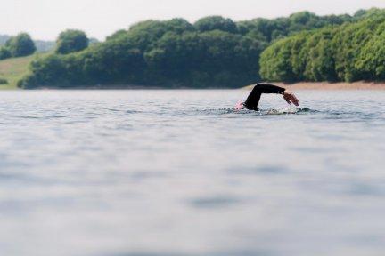 Dartmoor swim - swimmer in water