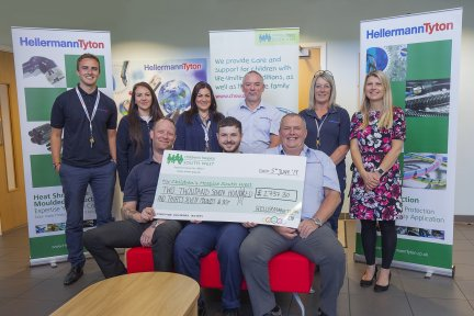HellermannTyton cheque presentation with Children's Hospice South West