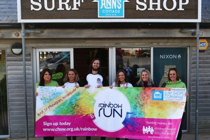 Ann's Cottage sponsor Newquay's Rainbow Run