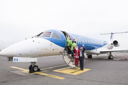 Bristol Airport and flybmi are supporting this year's Santas on the Run fun run in Bristol on Sunday, December 9 in aid of Children's Hospice South West.