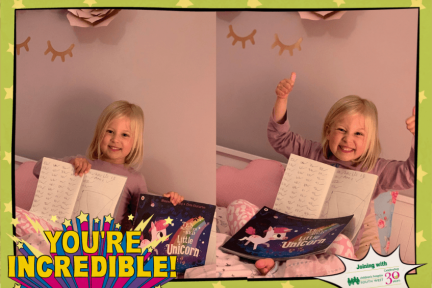 Amelie read 106 books in just 4 weeks