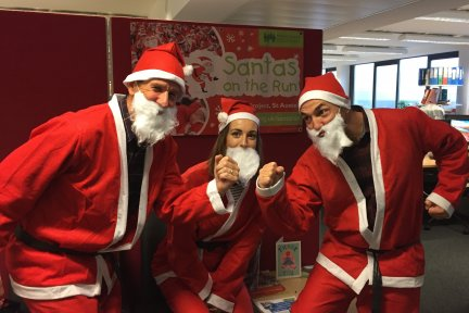 Bright Solicitors dressed as Santa and ready to run 19km for CHSW