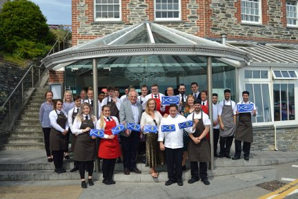 Seafood Restaurant celebrate their donation of £22,000 to CHSW