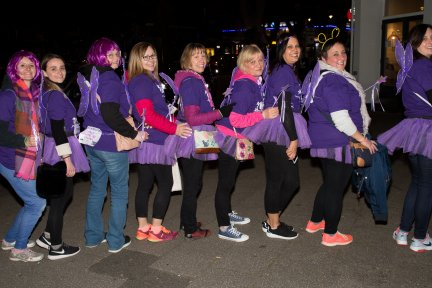 Ladies all ready for the 10th anniversary Moonlight Memory Walk