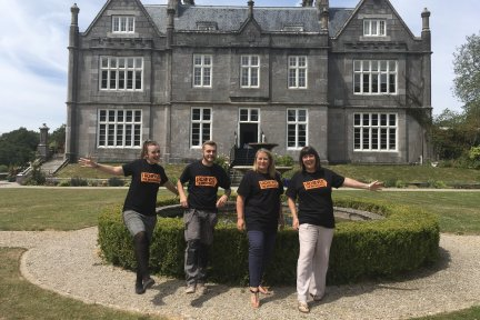 Kitley House Team ready to take part in Firewalk Plymouth