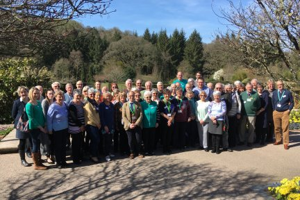 At the 2019 Children's Hospice South West Friends Group Conference at Great Torrington's RHS Rosemoor