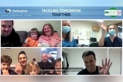 Exeter Chiefs held a virtual story time session for CHSW children and families