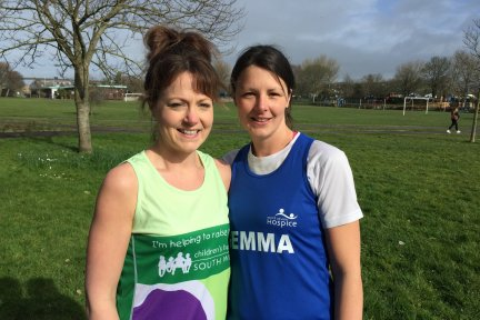 Bideford sisters Gemma Copp and Vikki Oliver are running the 2019 Virgin Money London Marathon in aid of North Devon Hospice and Children's Hospice South West.