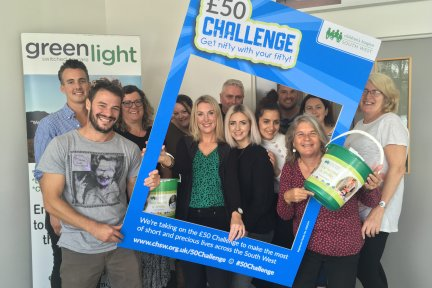 Green Light colleagues all got on board with £50 Challenge