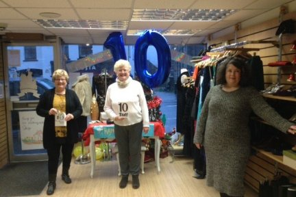 Shop manager Lynne Whitehall, long-serving volunteer Rosalind Chew and assistant manager Emily Thornhill