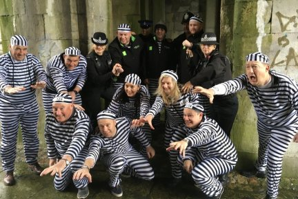 Prisoners getting arrested at Jail and Bail Plymouth 2018