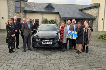 Presentation of new sibling car at Little Harbour