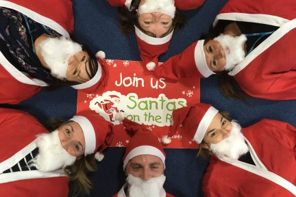 Ocean sponsor Santas on the Run at the Eden Project
