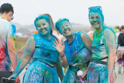 Rainbow Run Newquay blue ladies