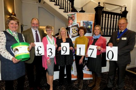 Rotary Club of Bideford and Rotary Club of Uelzen helped raise £39,170 for Children's Hospice South West. Picture: Graham Hobbs