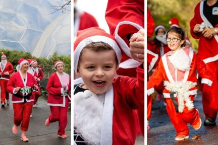 Santas on the Run Goes Freestyle comes to Eden, Rosemoor and Ashton Court on December 5