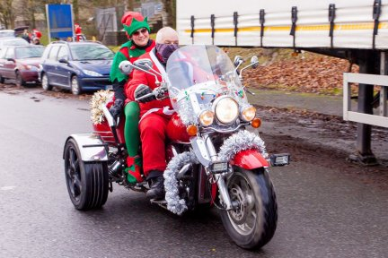 Santas on a Bike will be a little different this year