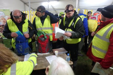 Teams check in for the 27th annual Rotary StarTrek Challenge on Exmoor