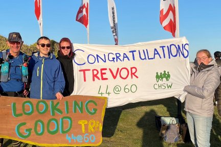 Trevor Lee and his support crew