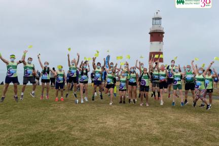 Runners before Plymouth half marathon