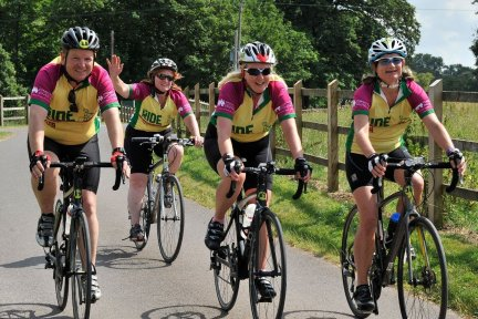 Group of four CHSW Ride for Precious Lives cyclists