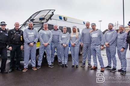 Jail and Bail prisoners get arrested by local off-duty police officers