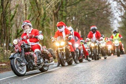 Santas on a Bike