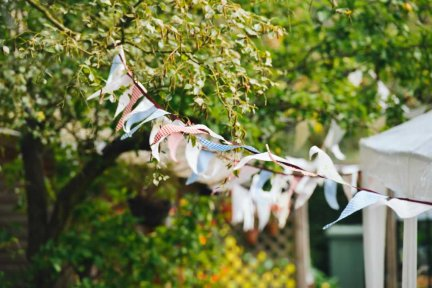 Bunting Blowing In A Playful Breeze