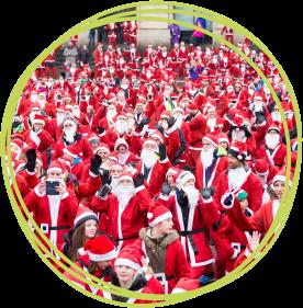 Santas on the Run Bristol warm up