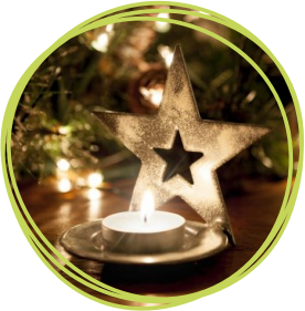 Christmas star votive candle holder