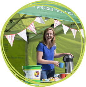 Emily volunteers for CHSW at Little Bridge House and at events