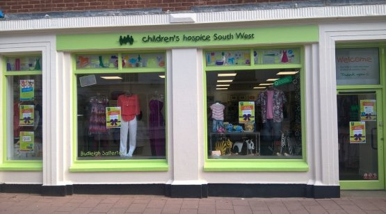 CHSW charity shop at Budleigh Salterton