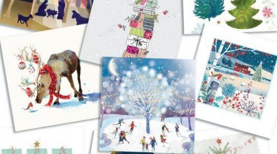 A layout showing a collection of Christmas cards