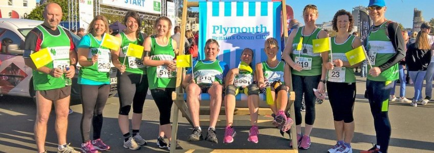 CHSW runners at Britains Ocean City Half Marathon