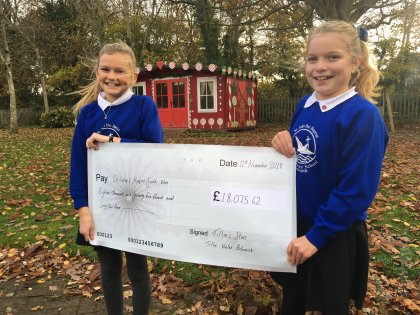 St John the Baptist R C Primary School pupils Maisie Pichowski and Sophia White held a cake sale to raise money for the Tillie's Stars appeal.