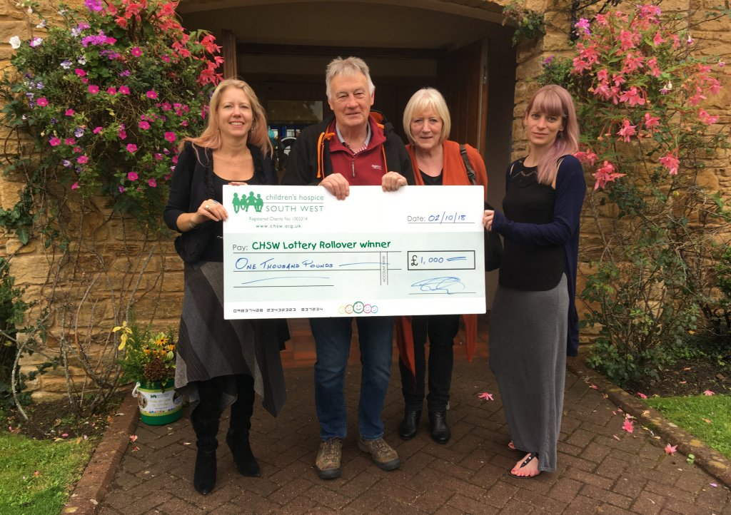Exeter couple win children's hospice lottery
