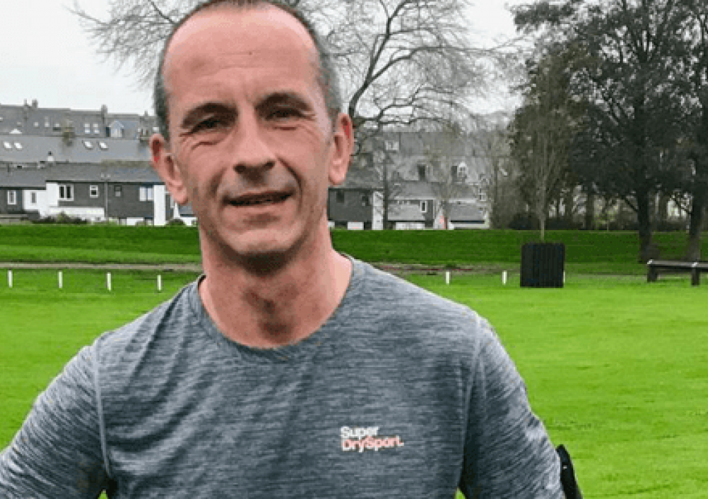 Stuart Shenton in training for the Bath half Marathon