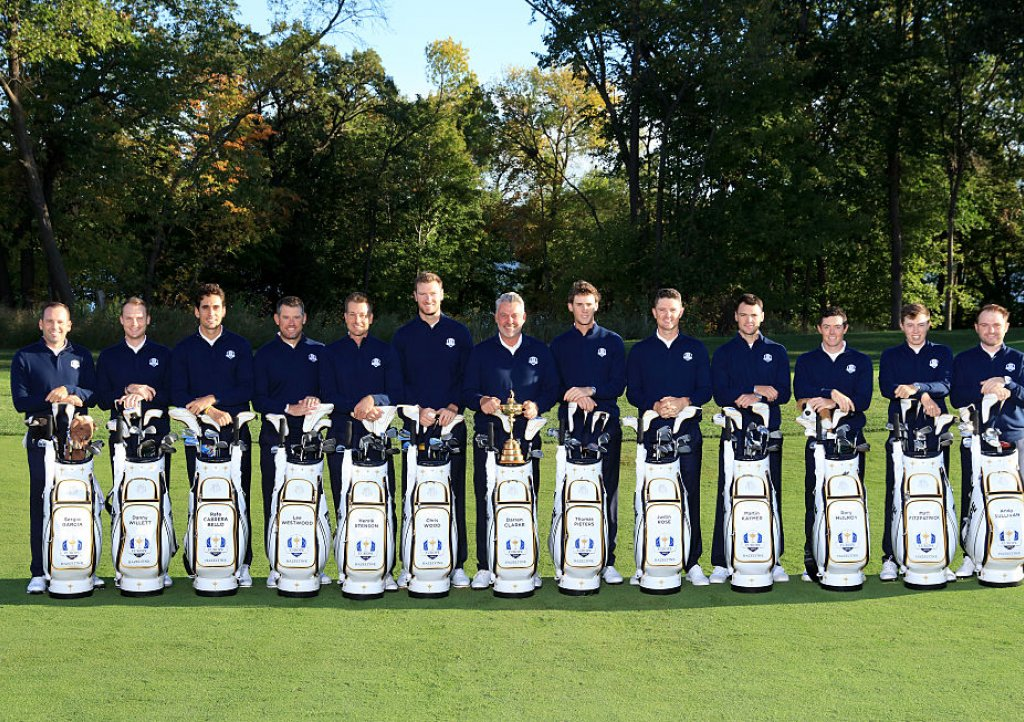 Chris Wood and the 2016 European Ryder Cup team