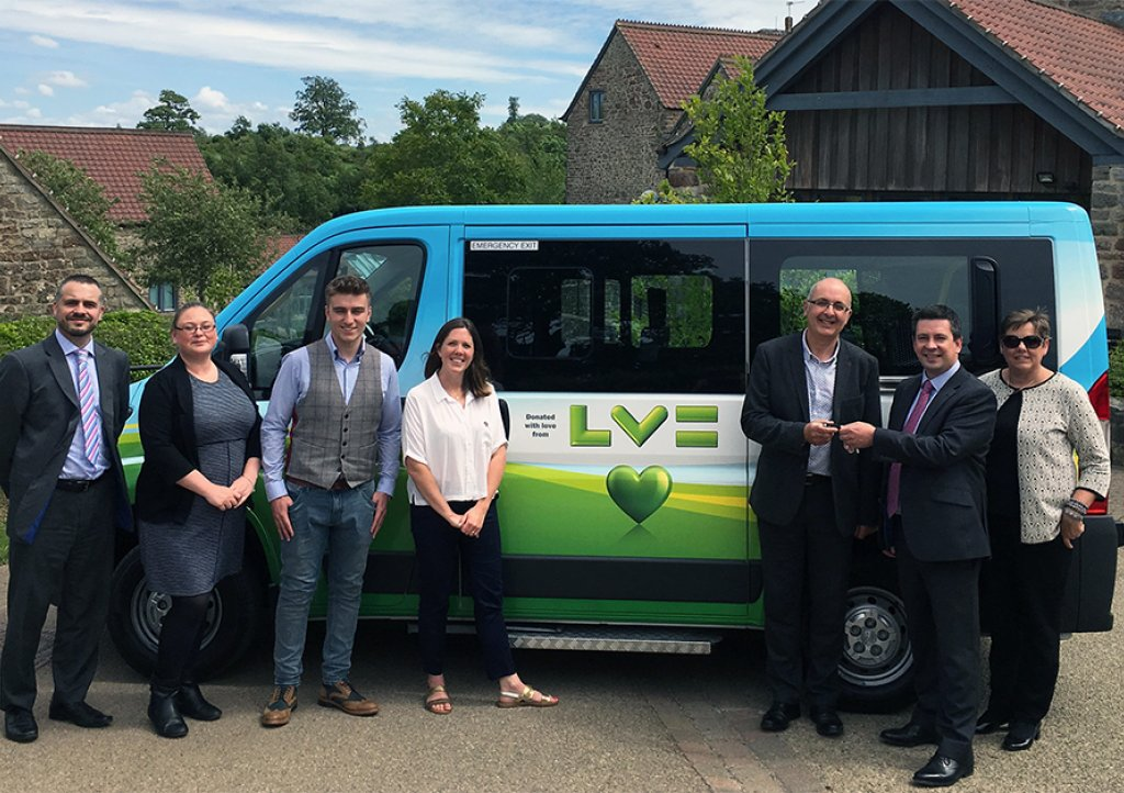 LV= Brokers present CHSW with bespoke minibus
