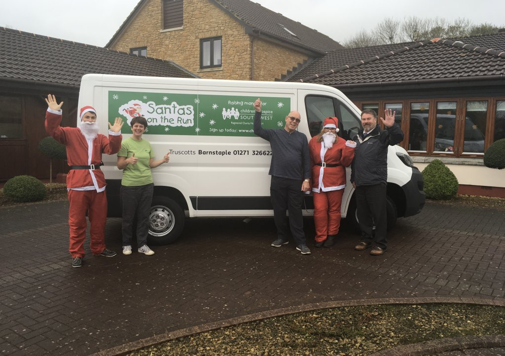 Santa on the Run Truscotts Van