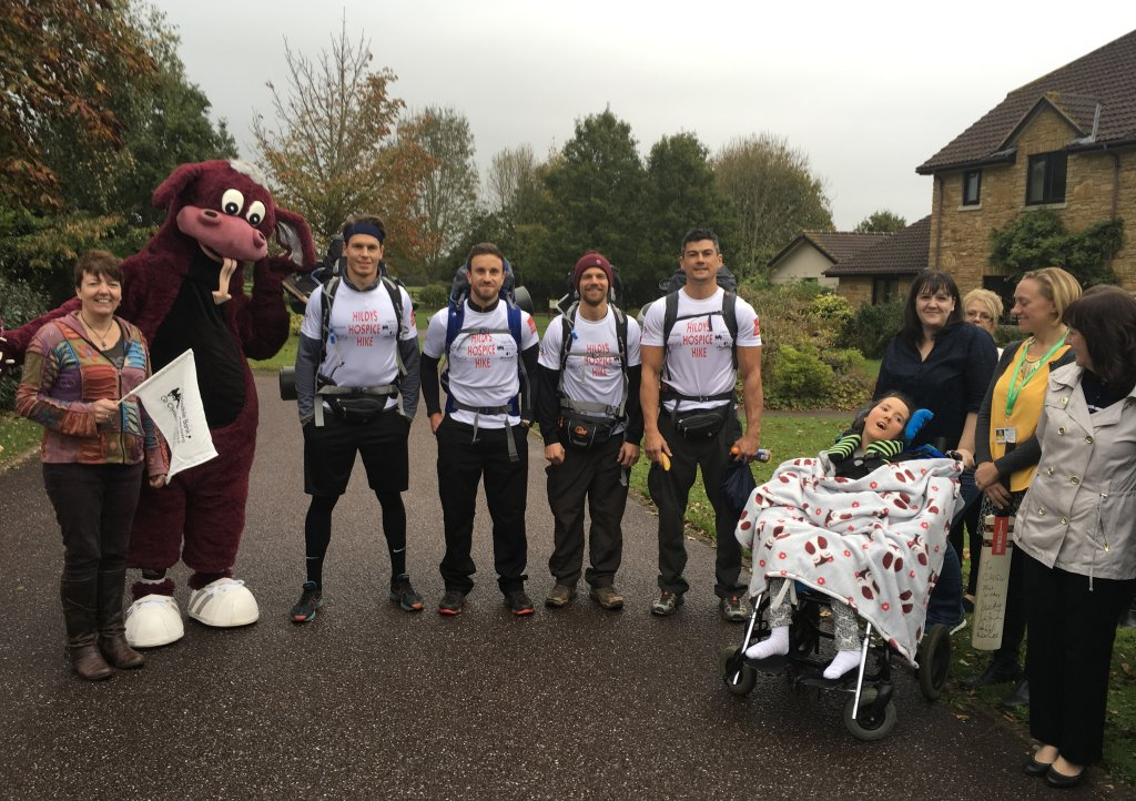 James Hildreth leaves Little Bridge House on Hildy's Hospice Hike fundraising for CHSW