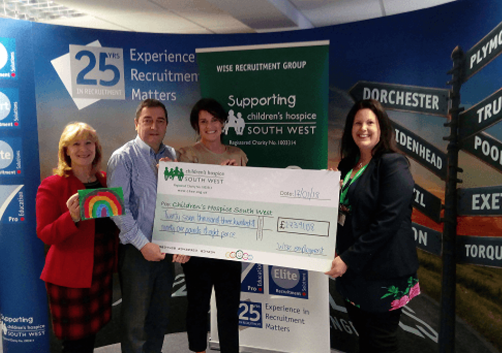 Wise Employment Group cheque presentation