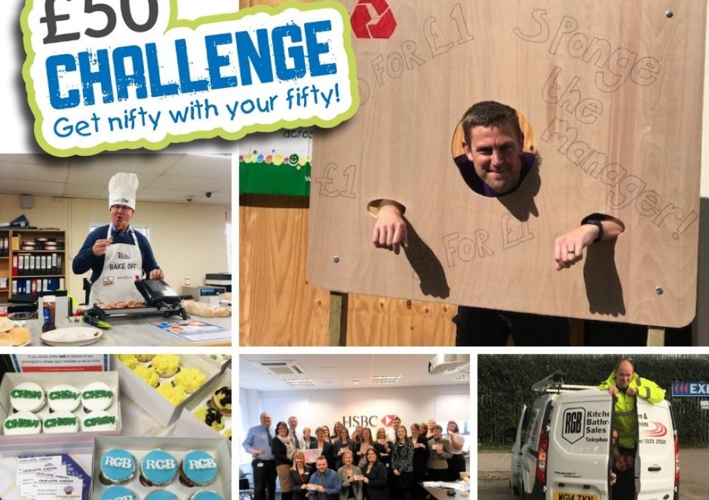 Take on the new-look £50 Challenge and help raise money for Children's Hospice South West this autumn