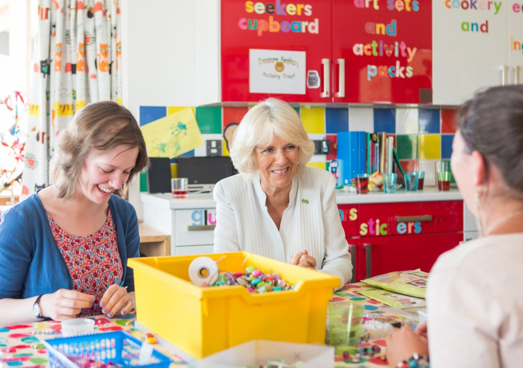 Camilla Duchess of Cornwall visits CHSW's Little Harbour hospice in 2013