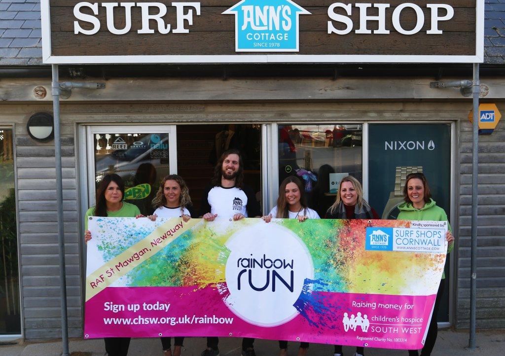 Ann's Cottage sponsor Newquay's Rainbow Run